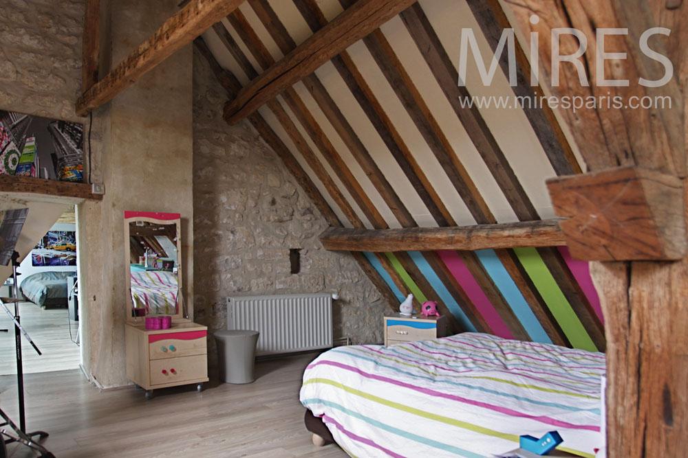 Chambre dadolescente avec batterie C0787  Mires Paris