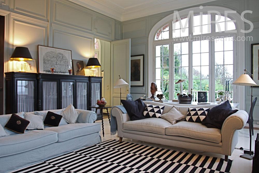 Double salon chic et lumineux C0802  Mires Paris
