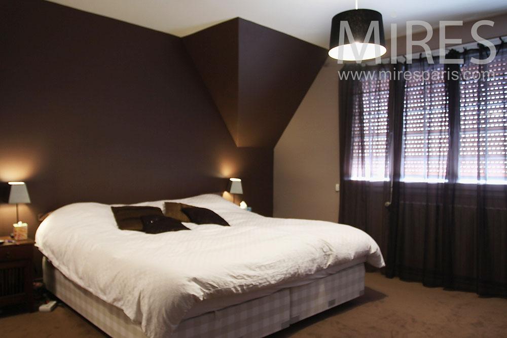 Chocolate bedroom C0814  Mires Paris