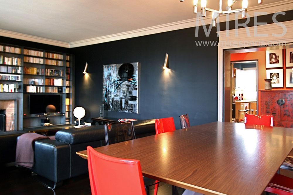 Salle 224 Manger Salon Avec Biblioth 232 Que C0827 Mires Paris