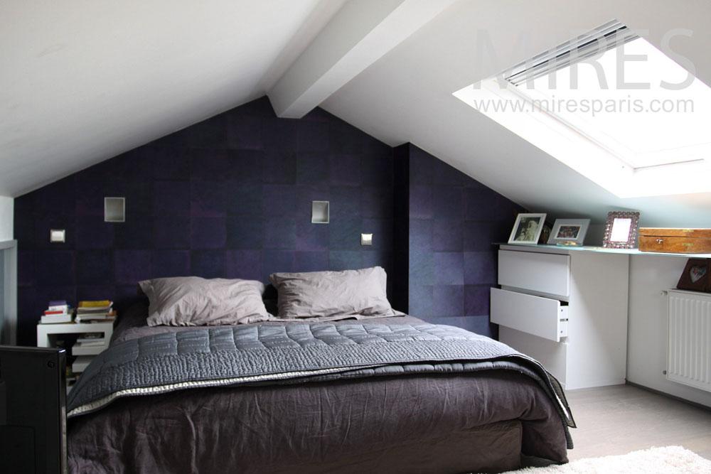 Chambre gain de place sous les toits C0840  Mires Paris