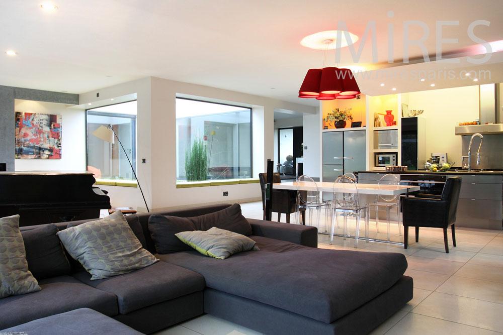 Maison moderne de plain pied C0844  Mires Paris