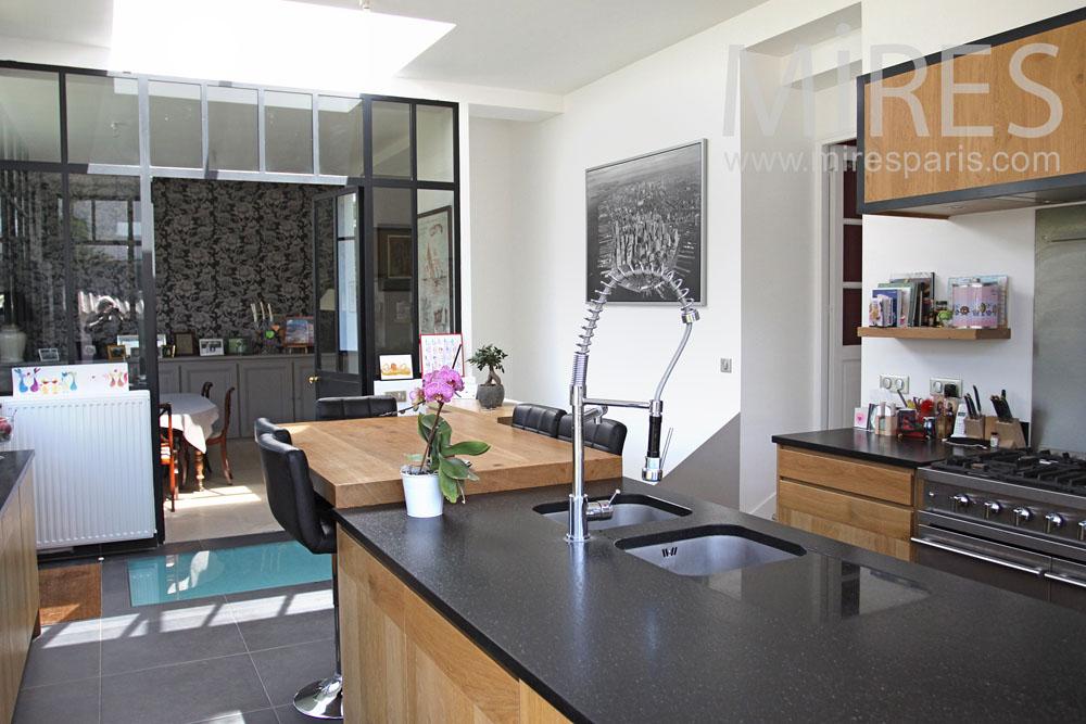cuisine et salon moderne