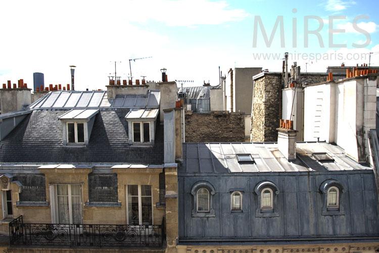 Le Charme Des Toits Parisiens C0913 Mires Paris