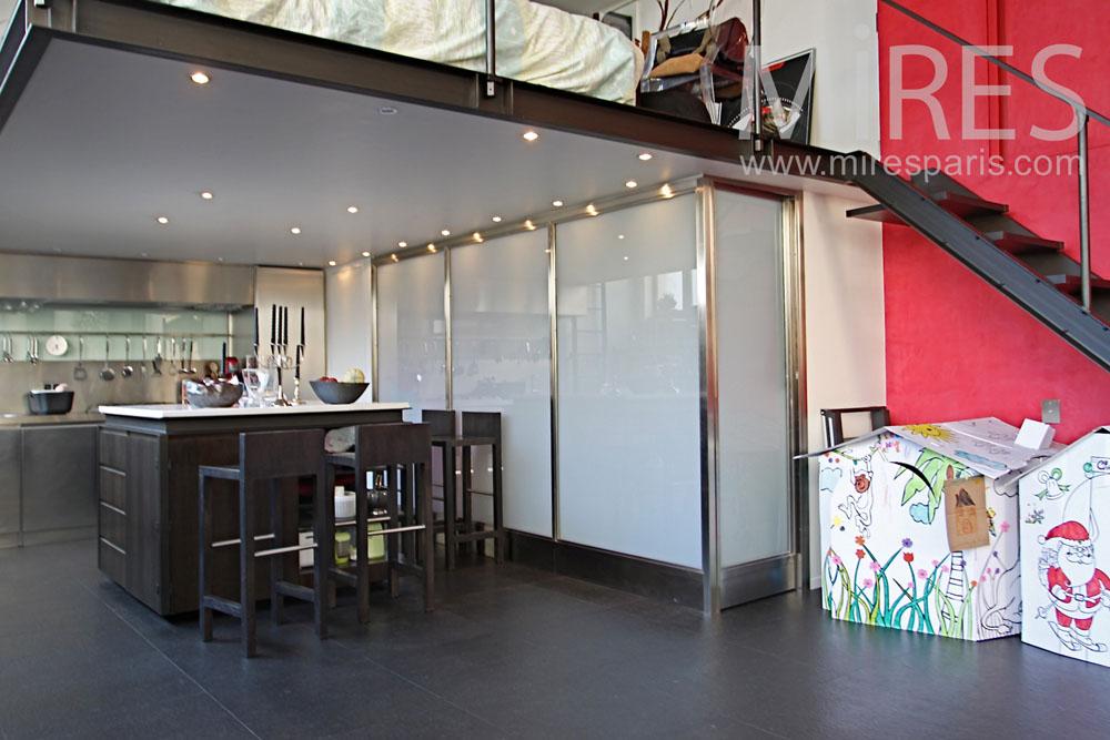 facade bois cuisine