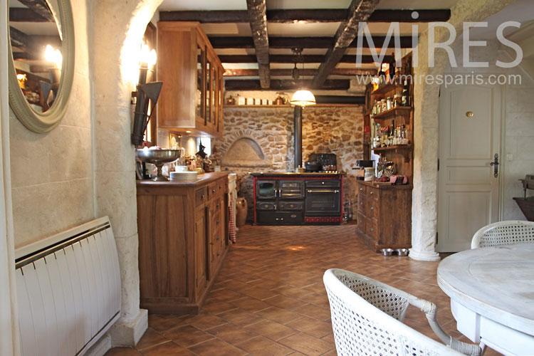 Belle cuisine campagnarde C1042  Mires Paris