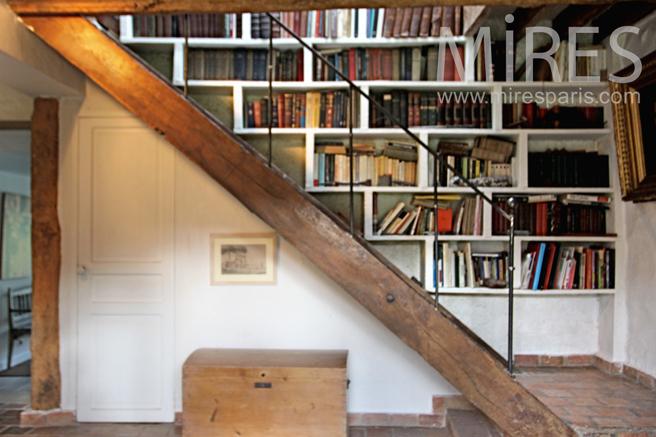Escalier bibliothque C0231  Mires Paris