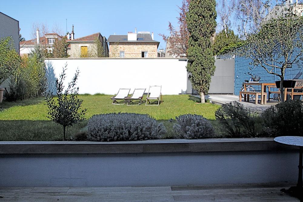Terrasse bois en contrebas C1322  Mires Paris