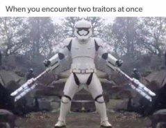 Когда встретил сразу двух предателей.