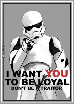 Я хочу, чтоб ты был верен. Не будь предателем!