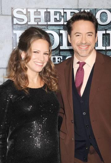 Роберт Дауни младший и жена