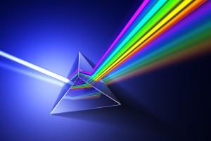 Light dispersion illustration.