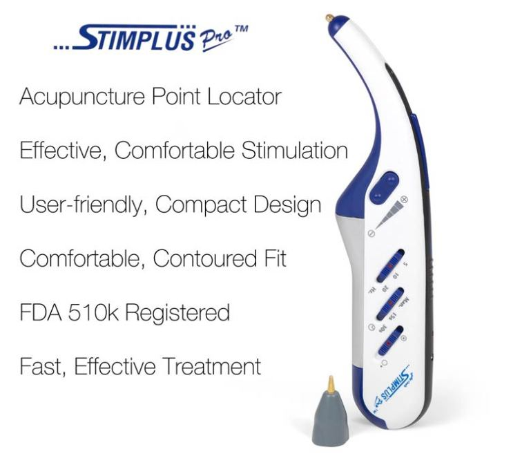 Stimplus Pro Acupuncture Point Locator and Electric Stim Ear Acupuncture Device
