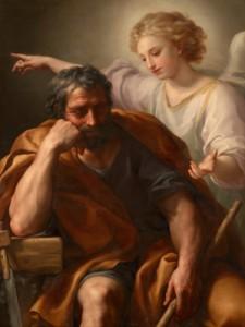 "Lukisan berjudul ""The Dream of St. Joseph"" karya Anton Raphael Mengs"