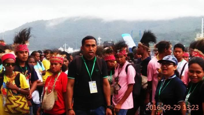OMK Keuskupan Manokwari-Sorong ketika tiba di Tanah Minahasa/Foto: Densus-OMK Kei Kecil