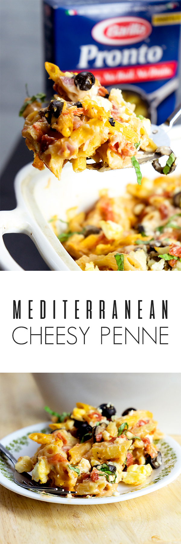 Mediterranean Style Penne and Cheese
