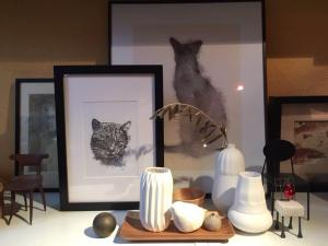 Cat, pet, framed, animal, passepartout, paper, decoration, house, art