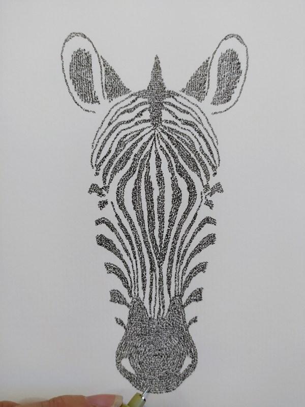 Zebra Calligram head
