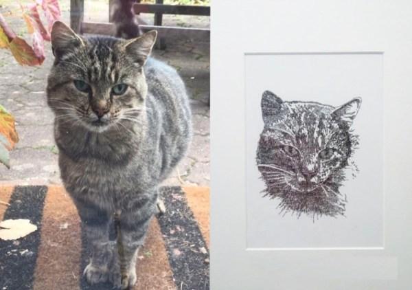 Calligram of a cat