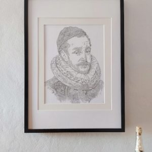 calligram portrait Willem van Oranje