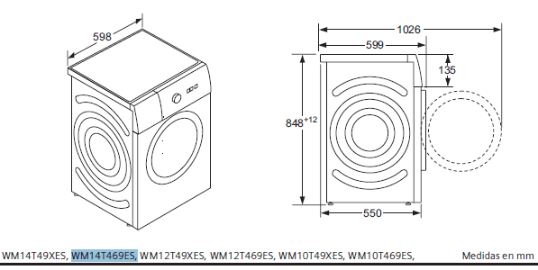 Siemens iQ500 WM14T469ES lavadora Independiente Carga