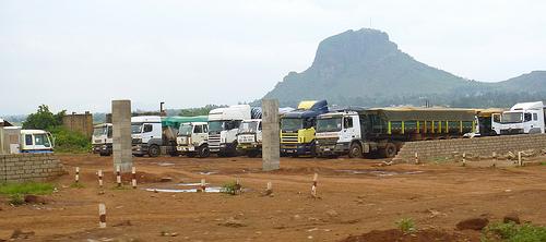 Trucks parked near the rail station in Tororo, Uganda (US Army Africa via Flickr)