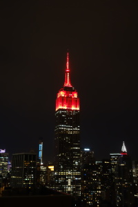 On the night of November 4th, in yet another example of the juxtaposition between American media and politics, the Empire State Building lit up the Manhattan skyline in red lights, signifying the Republicans' winning of the U.S. Senate (photo courtesy of christiNYCa via Flickr Creative Commons)