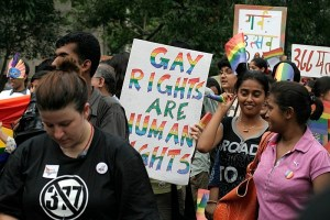 Protest in favor of gay rights in India (via Flickr)