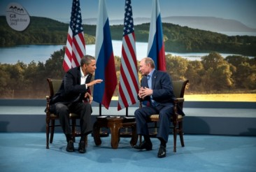 Obama and Putin meet at the G8 summit in 2013