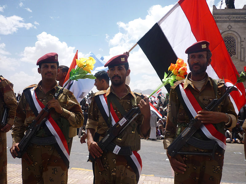 Yemeni soldiers from the 1st Armoured Division by Ibrahem Qasim.