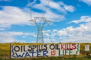 A message from protestors in North Dakota.