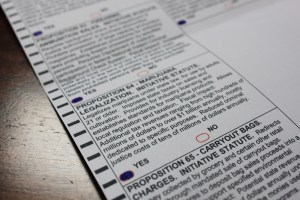 California Ballot November 8, 2016 -Proposition 64, Marijuana Legalization https://flic.kr/p/NcRXNr