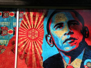 A mural of President Obama adorns a San Francisco street. https://flic.kr/p/5w3Mvp