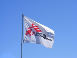 Flag of MSF, known in English as Doctors Without Borders. https://flic.kr/p/3b9Wve