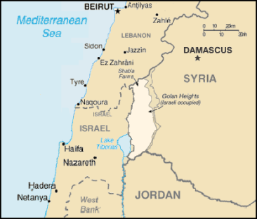 Geographic location of the Golan Heights http://bit.ly/2oIJ01Y