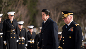 PM Shinzo Abe with US general https://flic.kr/p/RPr9ok