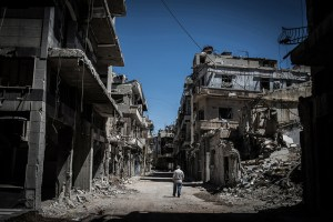 The Seige of Homs lasted 3 years and left majority of the city in ruins. Credits: https://flic.kr/p/rRuB2G