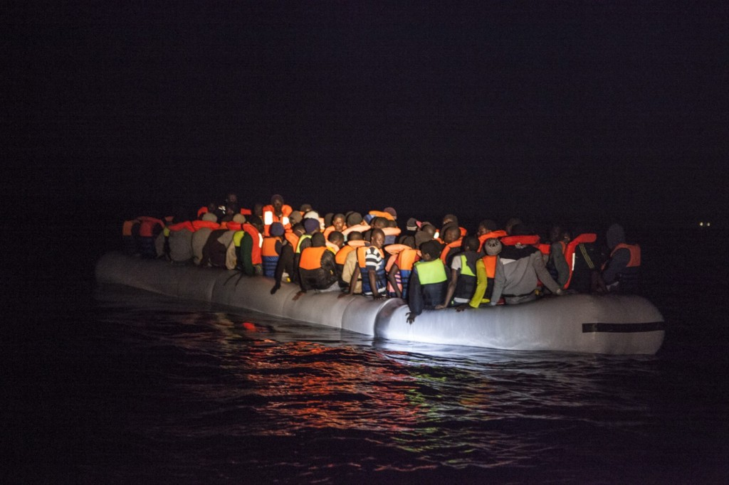 Migrants crossing the Mediterranean 2014. Source