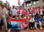 Navijanje uoči utakmice Hrvatska - Engleska Foto: Mirovina.hr