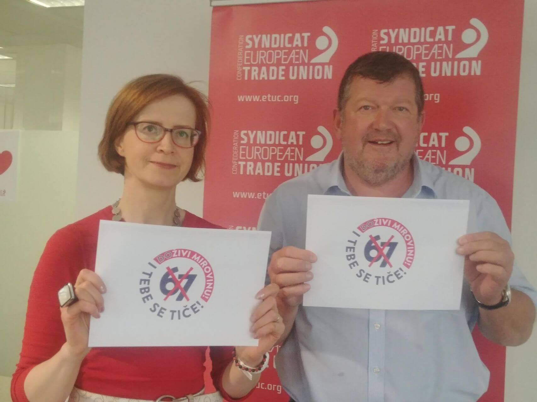 Europski sindikati podržali prosvjed protiv mirovinske reforme!