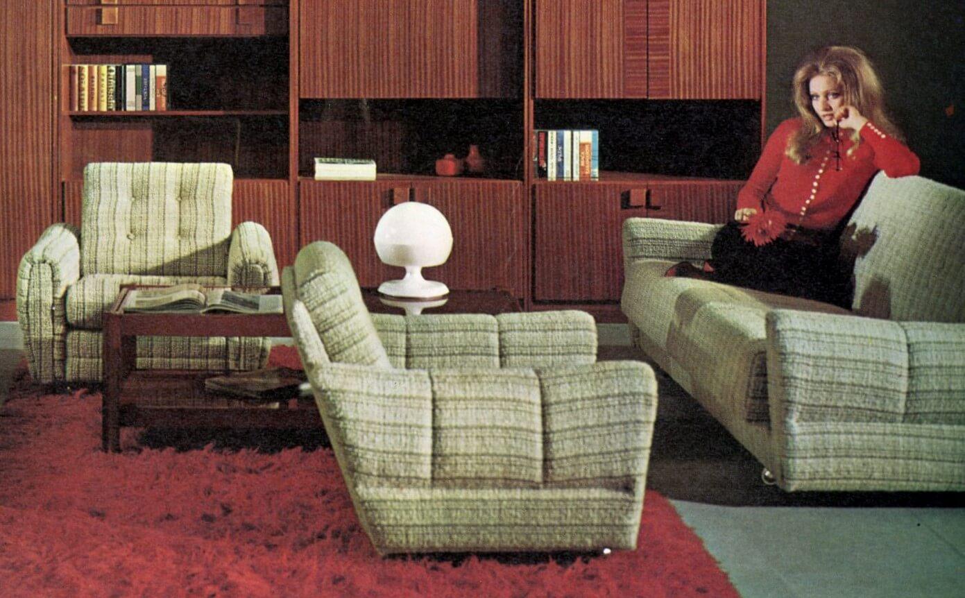 Pogledajte kako je izgledala dnevna soba domaćeg proizvođača iz 1971. godine