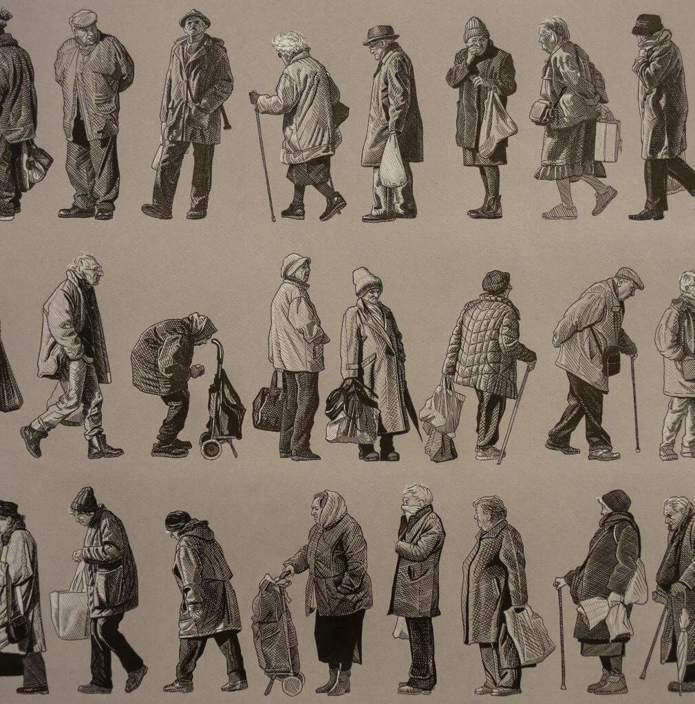Ulični umjetnik Lonac murale zamijenio crtežima starih ljudi. Čeka nas sjajna izložba!