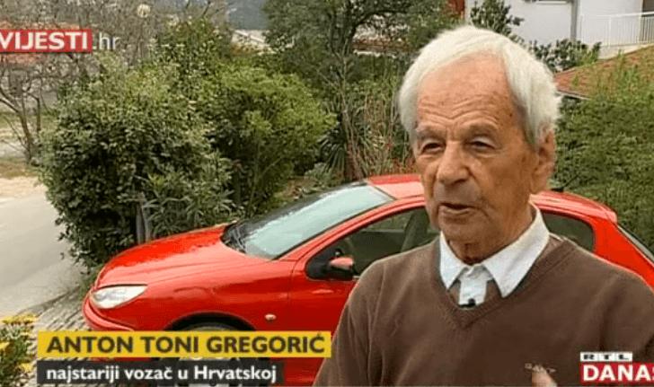 Najstariji vozač u Hrvatskoj ima 99 i nikada nije skrivio prometnu nesreću