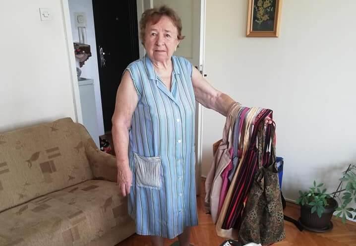 Baka (92) ujedinila građane. Skupljaju materijal kako bi imala od čega šivati torbe