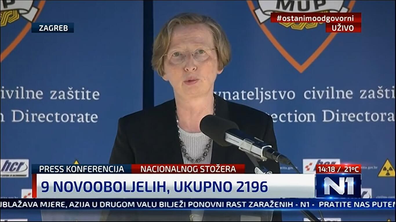 Markotić opomenula starije: Stoje u gužvi ispred banke na 30 cm udaljenosti!