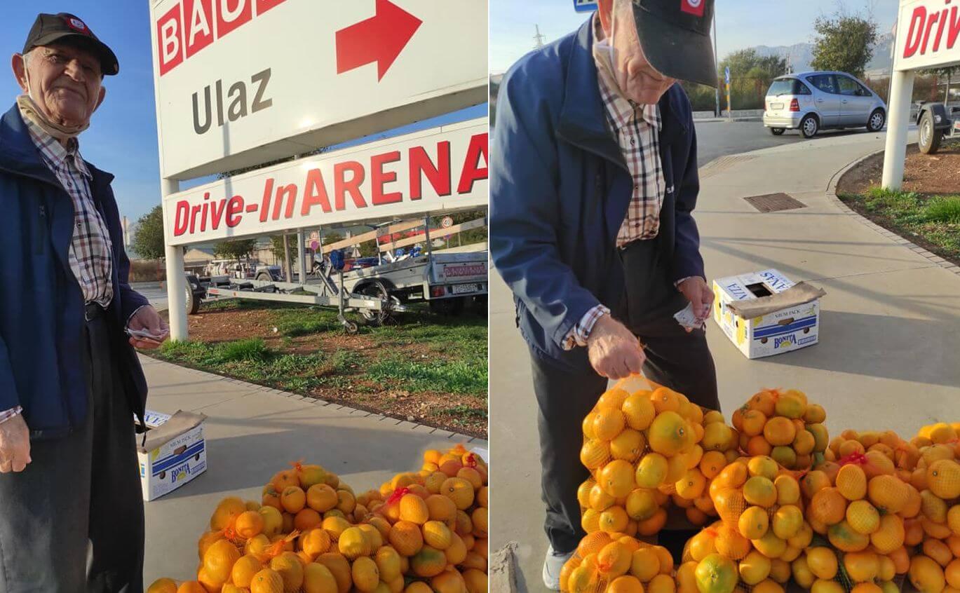 Splićanka: Kupite mandarine kod ovog gospodina, sam je, ima 85 godina i 40 kila
