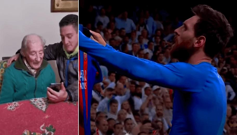 Najveći Messijev fan ima 100 godina: Pogodite tko mu je za rođendan poslao video pozdrav