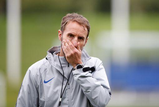 Gareth Southgate during training