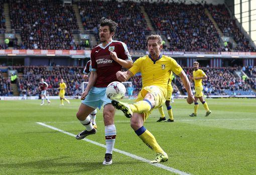 Charlie Taylor i action for Leeds against Burnley