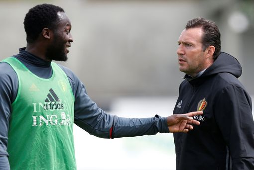 Romelu Lukaku and coach Marc Wilmots